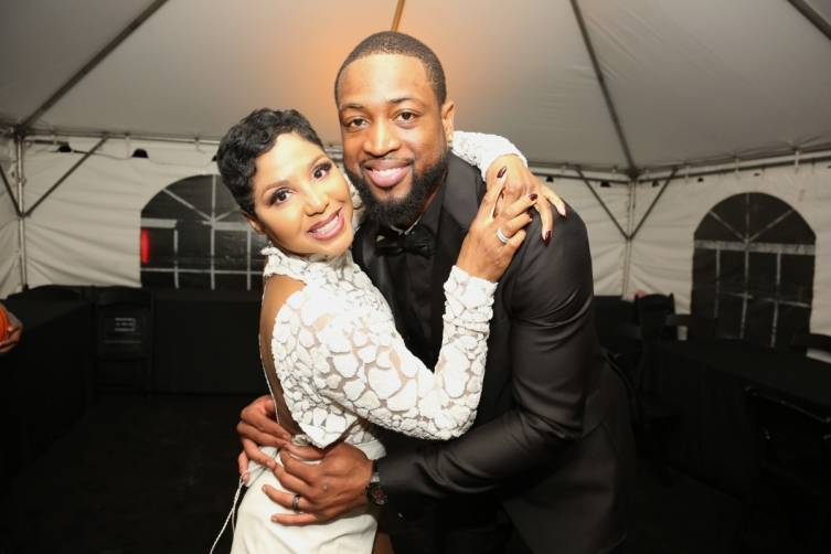 Toni Braxton and Dwyane Wade