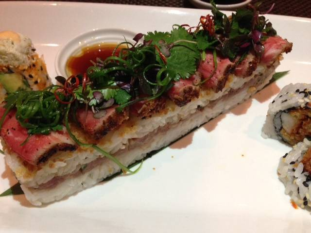 Truffle Beef Osaka with Wagyu tataki