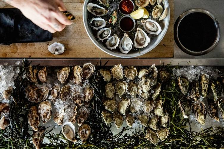 Oysters at Boxing Room.