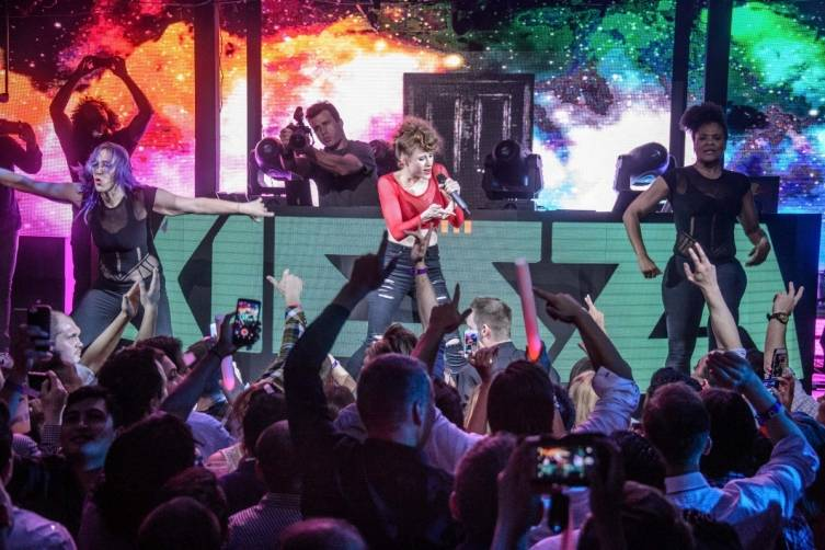 Kiesza performs at Marquee.
