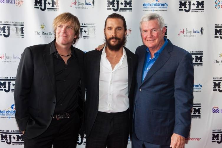 Jack Ingram, Matthew McConaughey and Mack Brown