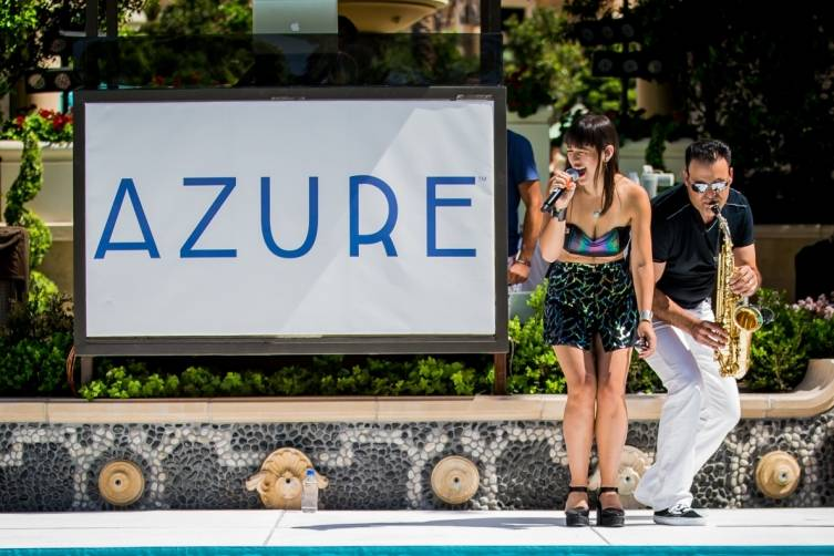 Fiore performs at Azure Luxury Pool.