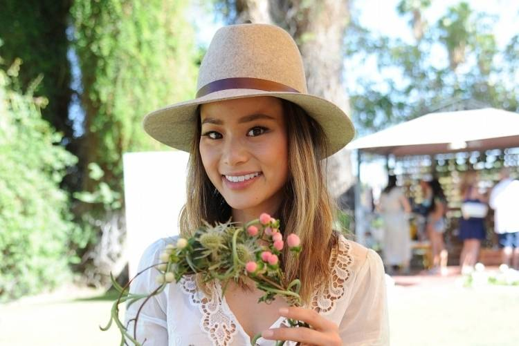 Jamie Chung shows off her sweet style at the Music Lounge at Coachella