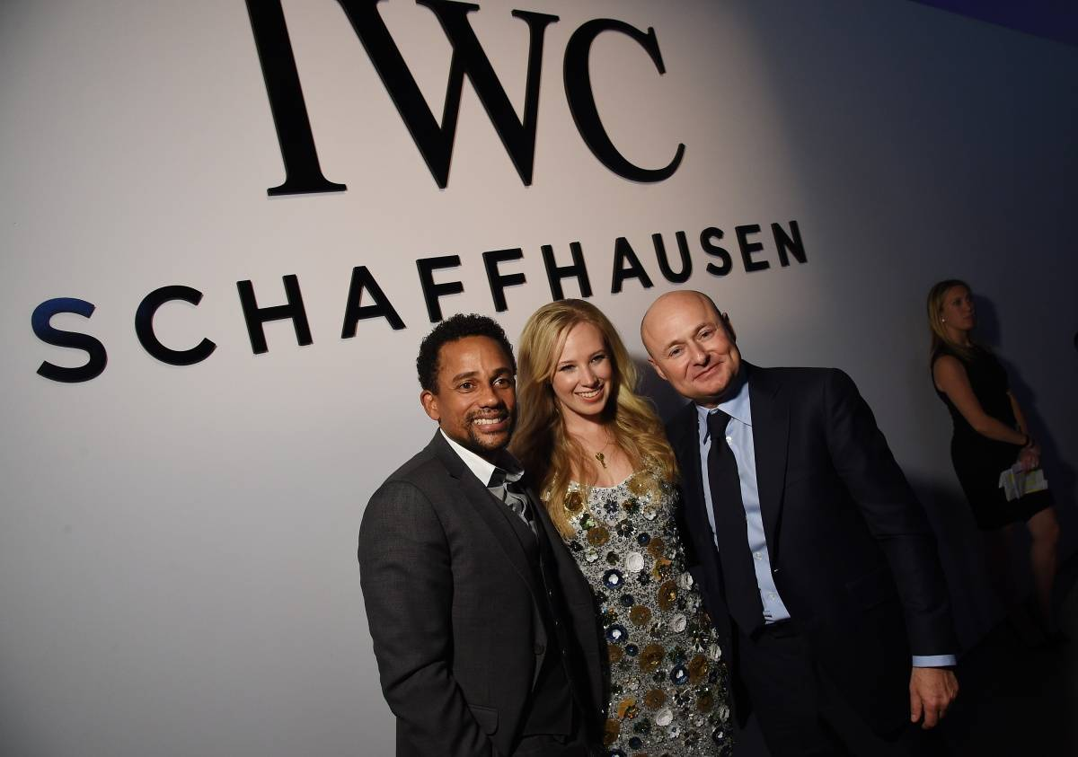 "Actor Hill Harper and CEO of IWC Schaffhausen Georges Kern attends the IWC Schaffhausen Third Annual ""For the Love of Cinema"" Gala during the Tribeca Film Festival on April 16, 2015 in New York City. (Photo by Dimitrios Kambouris/Getty Images for IWC)"