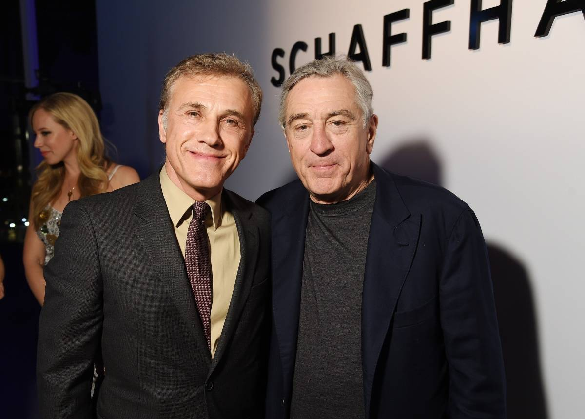 "Actor Christoph Waltz (L) and TFF co-founder Robert De Niro attend the IWC Schaffhausen Third Annual ""For the Love of Cinema"" Gala during the Tribeca Film Festival on April 16, 2015 in New York City. (Photo by Dimitrios Kambouris/Getty Images for IWC)"