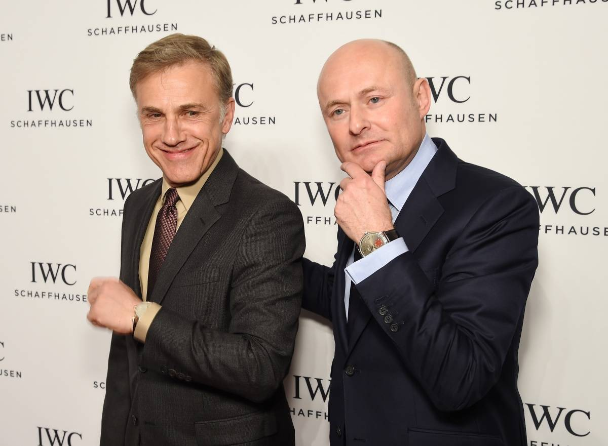 "Actor Christoph Waltz and CEO of IWC Schaffhausen Georges Kern attend the IWC Schaffhausen Third Annual ""For the Love of Cinema"" Gala during the Tribeca Film Festival on April 16, 2015 in New York City. (Photo by Dimitrios Kambouris/Getty Images for IWC)"