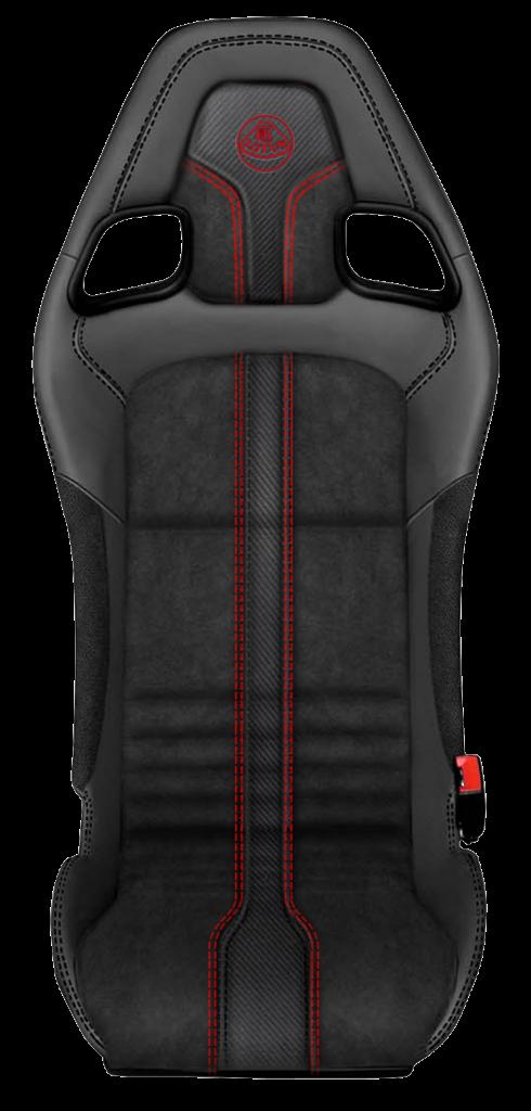 Ebony leather or Ebony leather/Slate Grey Suedetex®