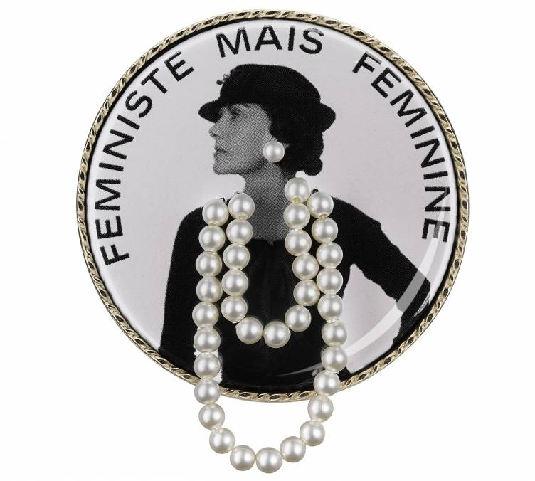 Brooch with a portrait of Gabrielle Chanel