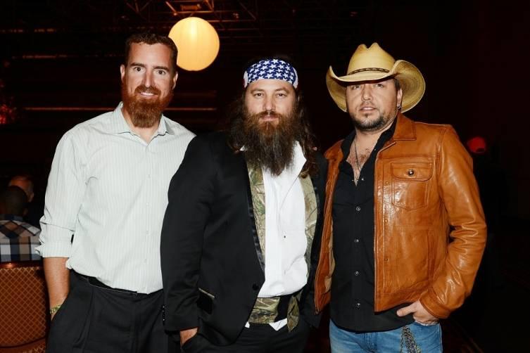 Adam LaRoche, Willie Robertson and Jason Aldean at World Premiere of DUCK COMMANDER MUSICAL 4.15.15_Credit Denise Truscello