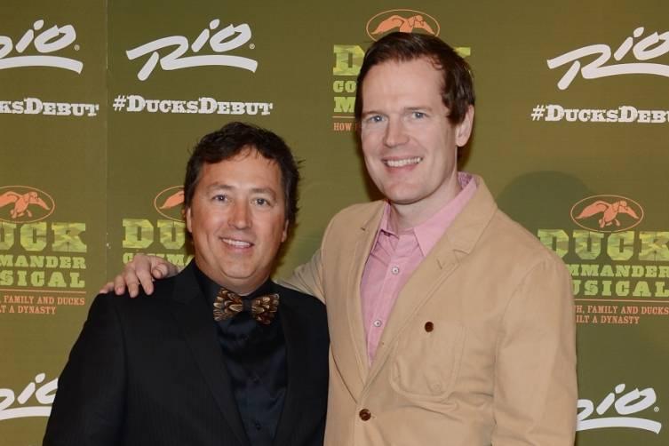 Alan Robertson and Matt Stokes at World Premiere of DUCK COMMANDER MUSICAL 4.15.15_Credit Denise Truscello