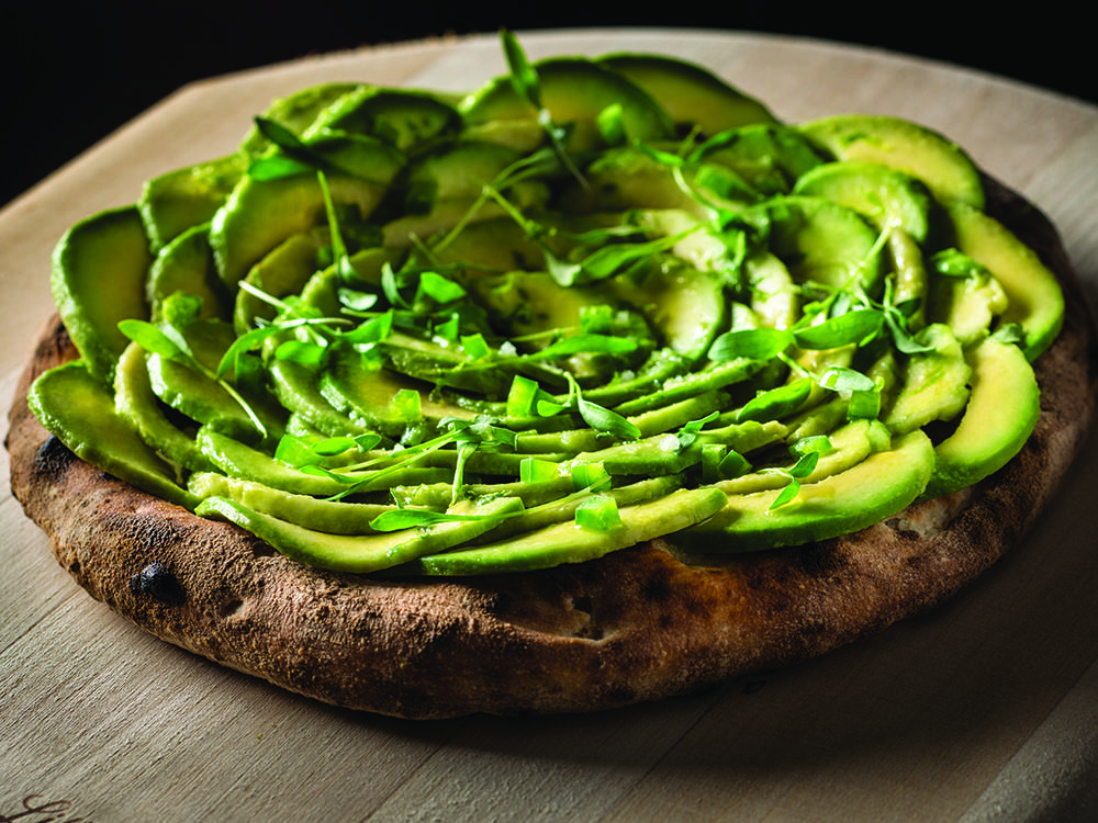 Avocado and Jalapeno Pizza
