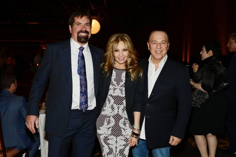 Bill Busbice, Thalia and Tommy Mottola at World Premiere of DUCK COMMANDER MUSICAL 4.15.15_Credit Denise Truscello