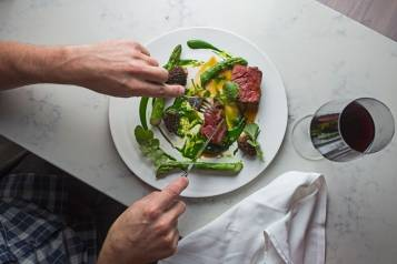 Blenheim-Gwynnett-street-NYC-chef-Justin_Hilbert_west_village_dining_restaurant_beefsteak-asparagus-morels-watercress_slideshow1