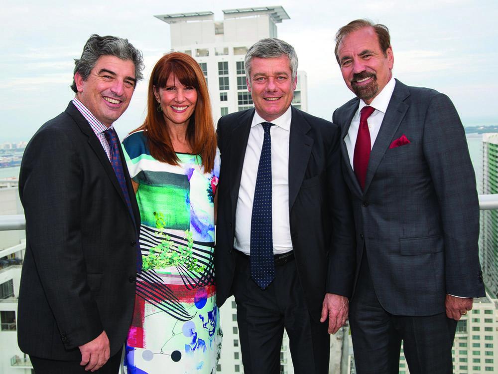 Carlos Rosso, Sonia Figueroa, Paolo Pininfarina and Jorge Perez
