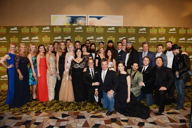 Cast and Creative team of DUCK COMMANDER MUSICAL with Robertson Family at World Premiere of DUCK COMMANDER MUSICAL 4.15.15_Credit Denise Truscello