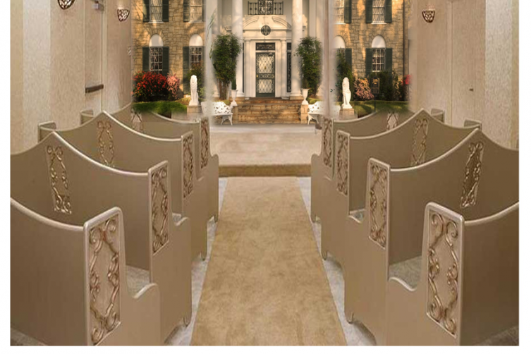 Graceland Wedding Chapel.Elvis Presley S Graceland In Las Vegas Includes A Wedding Chapel