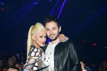 Christina Aguilera with Matthew_Hakkasan Anniversary