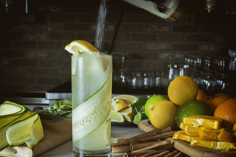 Florida Citrus Elixir with St. Germain, Ketel One, Cucumber and Ginger Beer