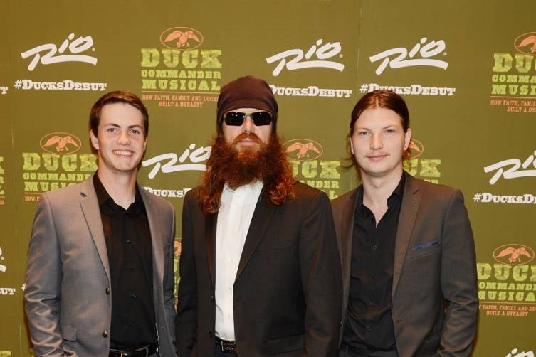 Cole, Jase and Reed Robertson at World Premiere of DUCK COMMANDER MUSICAL 4.15.15_Credit Denise Truscello