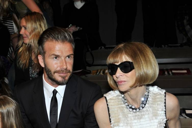 David Beckham and Anna Wintour