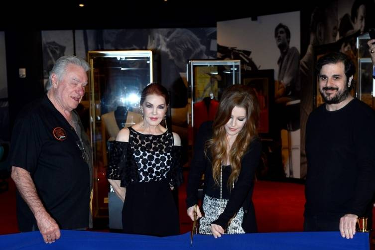 David Siegel, Priscilla Presley, Lisa Marie Presley, Joel Weinshanker. Courtesy Getty Images