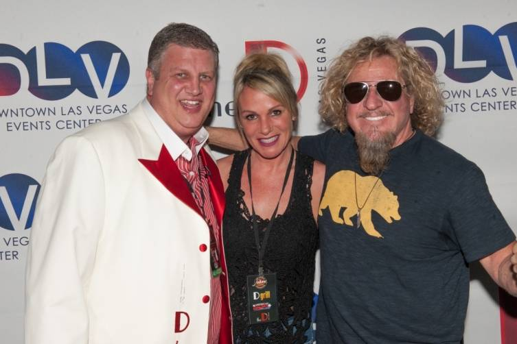 Derek Stevens, Nicole Parthum and Sammy Hagar at Downtown Las Vegas Events Center 4.11.15