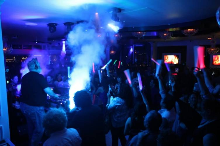 Excited fans head to the dancefloor during Kristian Nairns Special Guest DJ Set at Ghostbar
