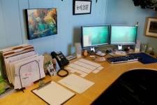 Tom Fords desk