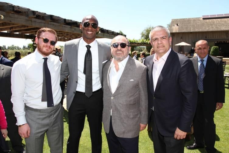 Greg Simonian, Kobe Bryant, John Simonian and Ricardo Guadalupe