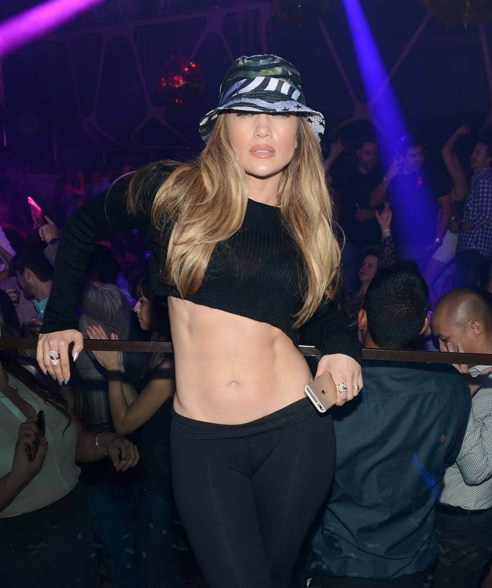 Jennifer Lopez at Hakkasan Nightclub.