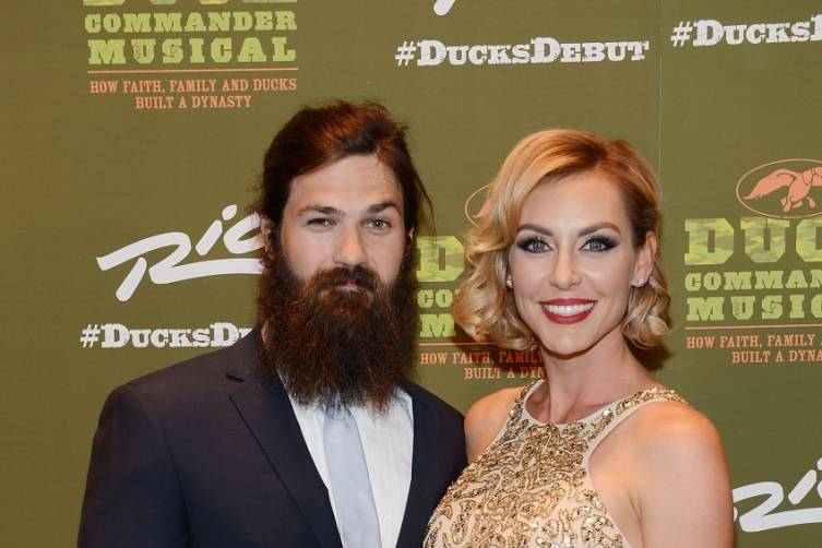 Jep and Jessica Robertson at World Premiere of DUCK COMMANDER MUSICAL 4.15.15_Credit Denise Truscello