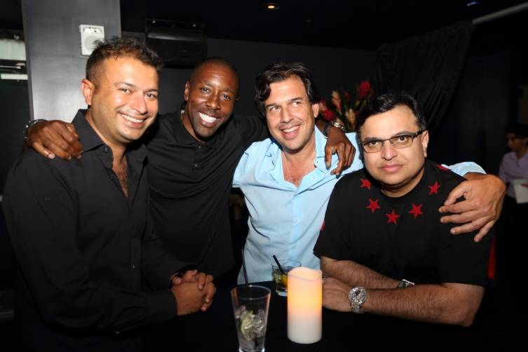 Kamal Hotchandani, guests and Mike Kalwani