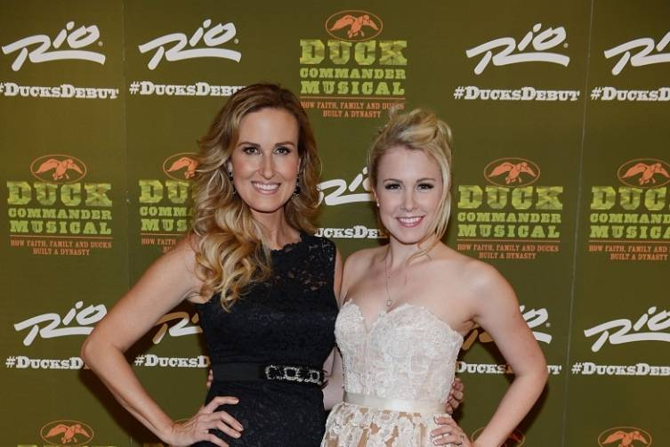 Korie Robertson and Ginna Claire Mason at World Premiere of DUCK COMMANDER MUSICAL 4.15.15_Credit Denise Truscello