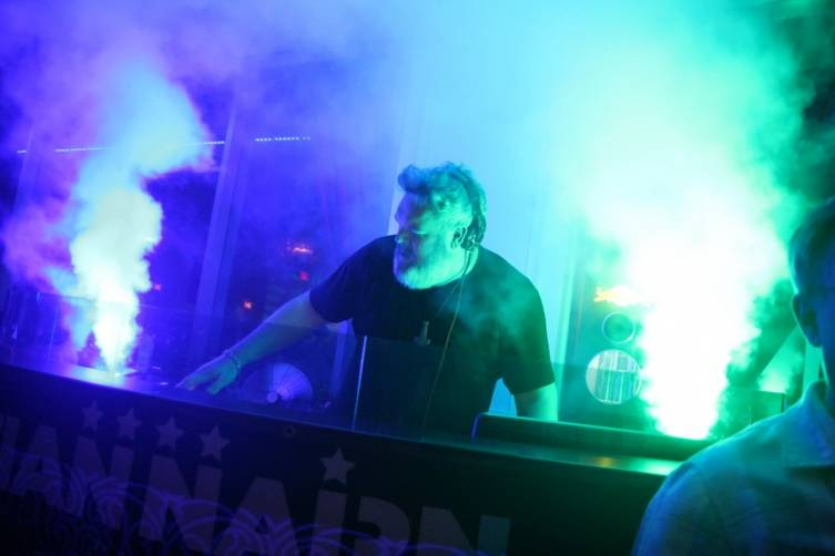 Kristian Nairn Spins at Ghostbar during Rave of Thrones event.