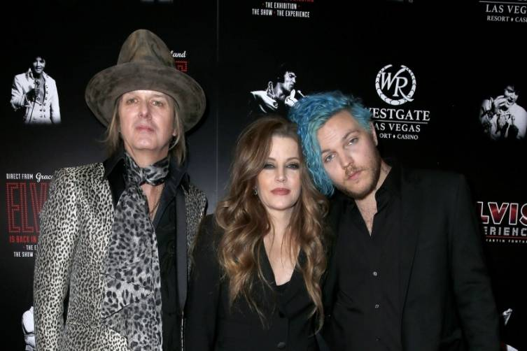 Lisa Marie Presley wth husband Michael Lockwood and son Danny Keough. Courtesy Judy Eddy