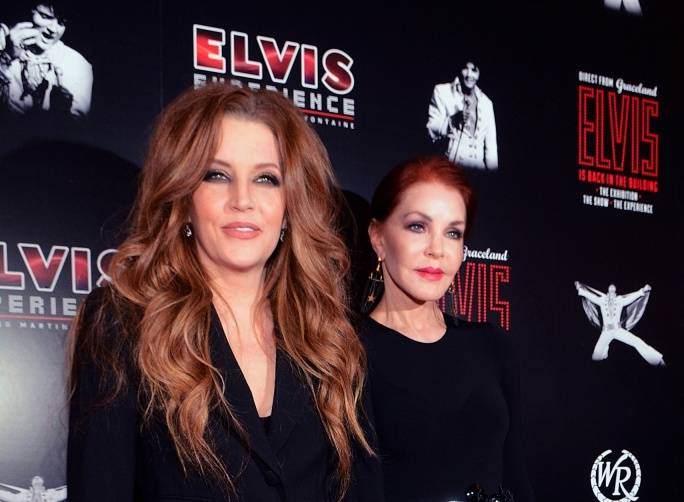 Lisa Marie and Priscilla Presley. Courtesy Steve SpataforeLV News Bureau