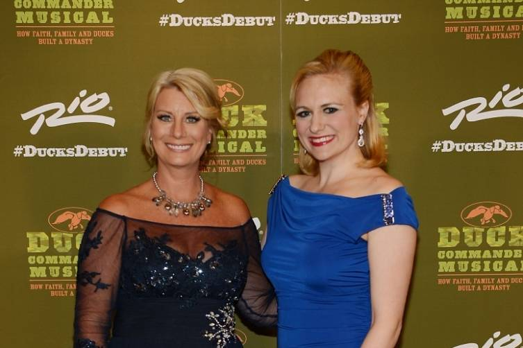 Lisa Robertson and Haley Swindal at World Premiere of DUCK COMMANDER MUSICAL 4.15.15_Credit Denise Truscello