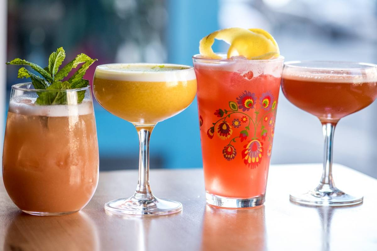 The lineup of spring cocktails at the Mission's Lolo.
