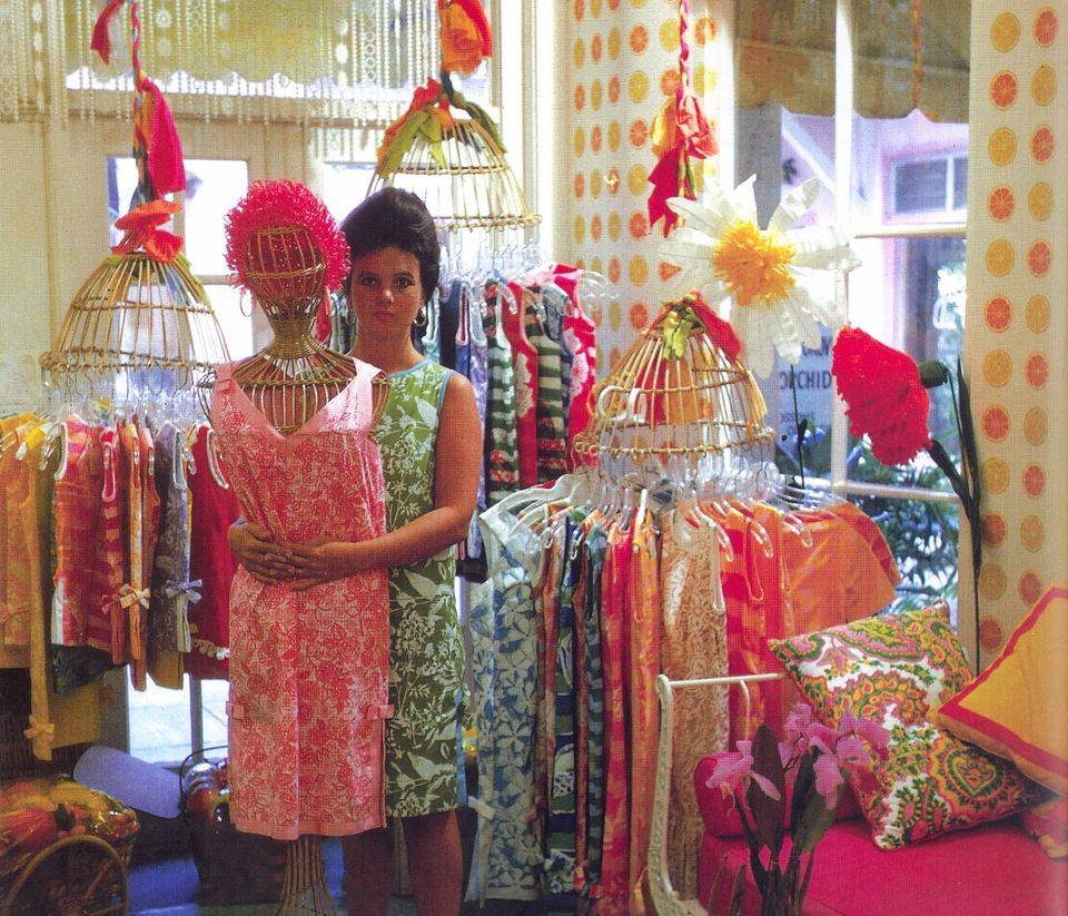 Lilly pulitzer as seen in her shop in via mizner in 1962 from