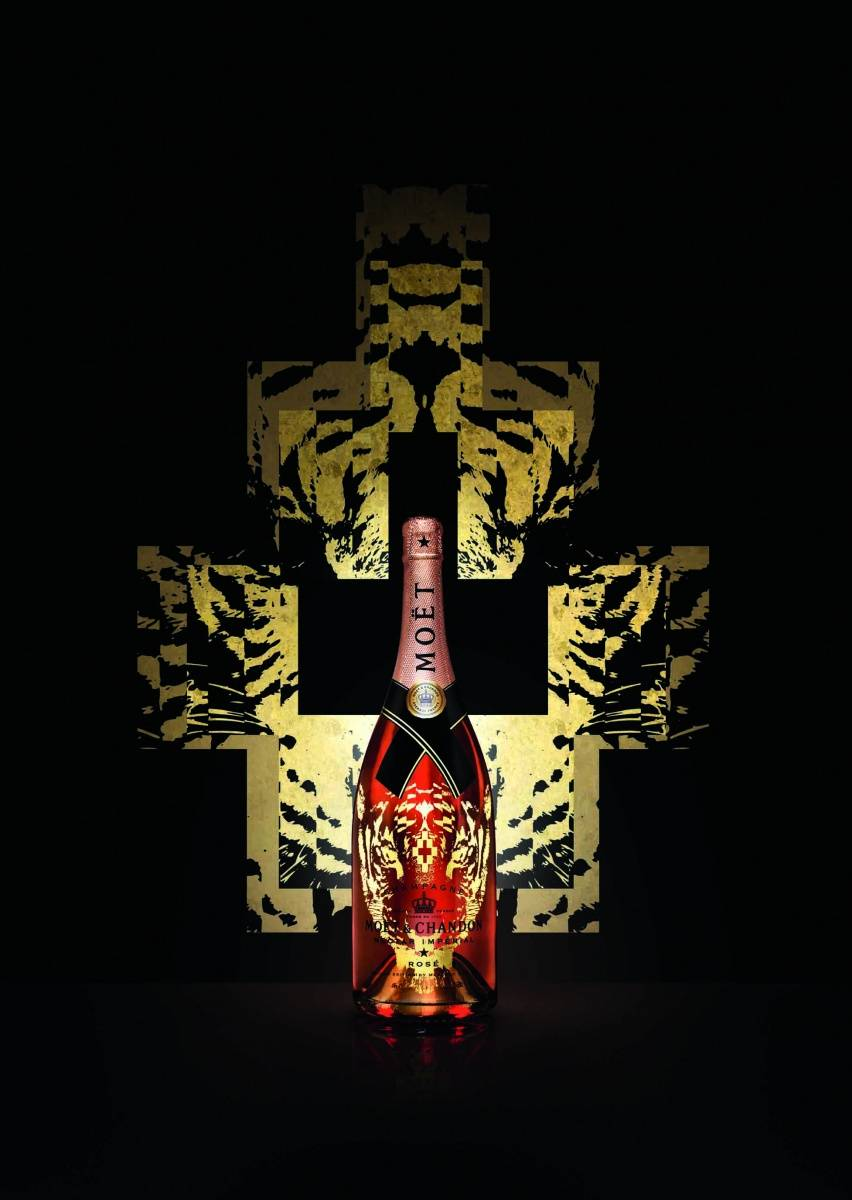 MOET-tiger bottle