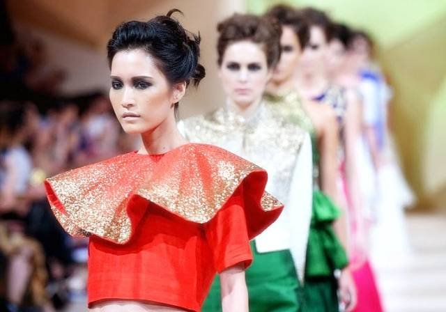 Maral Yazarloo was just one of the premier designers featured at Fashion Forward 2015 in Dubai.