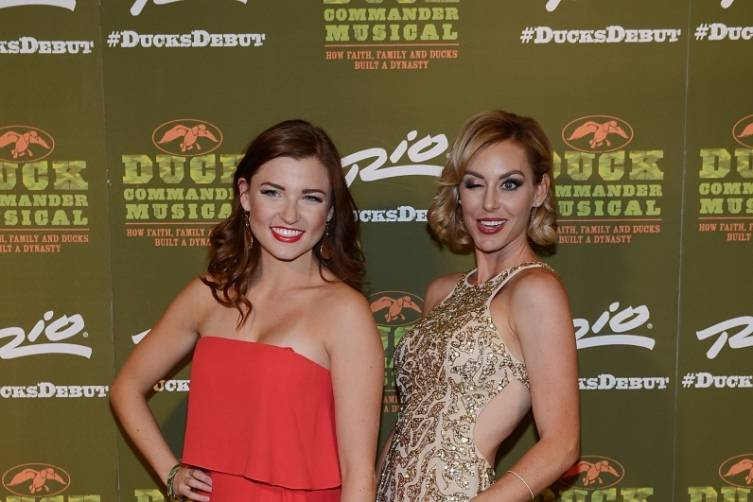 Mary Little and Jessica Robertson at World Premiere of DUCK COMMANDER MUSICAL 4.15.15_Credit Denise Truscello