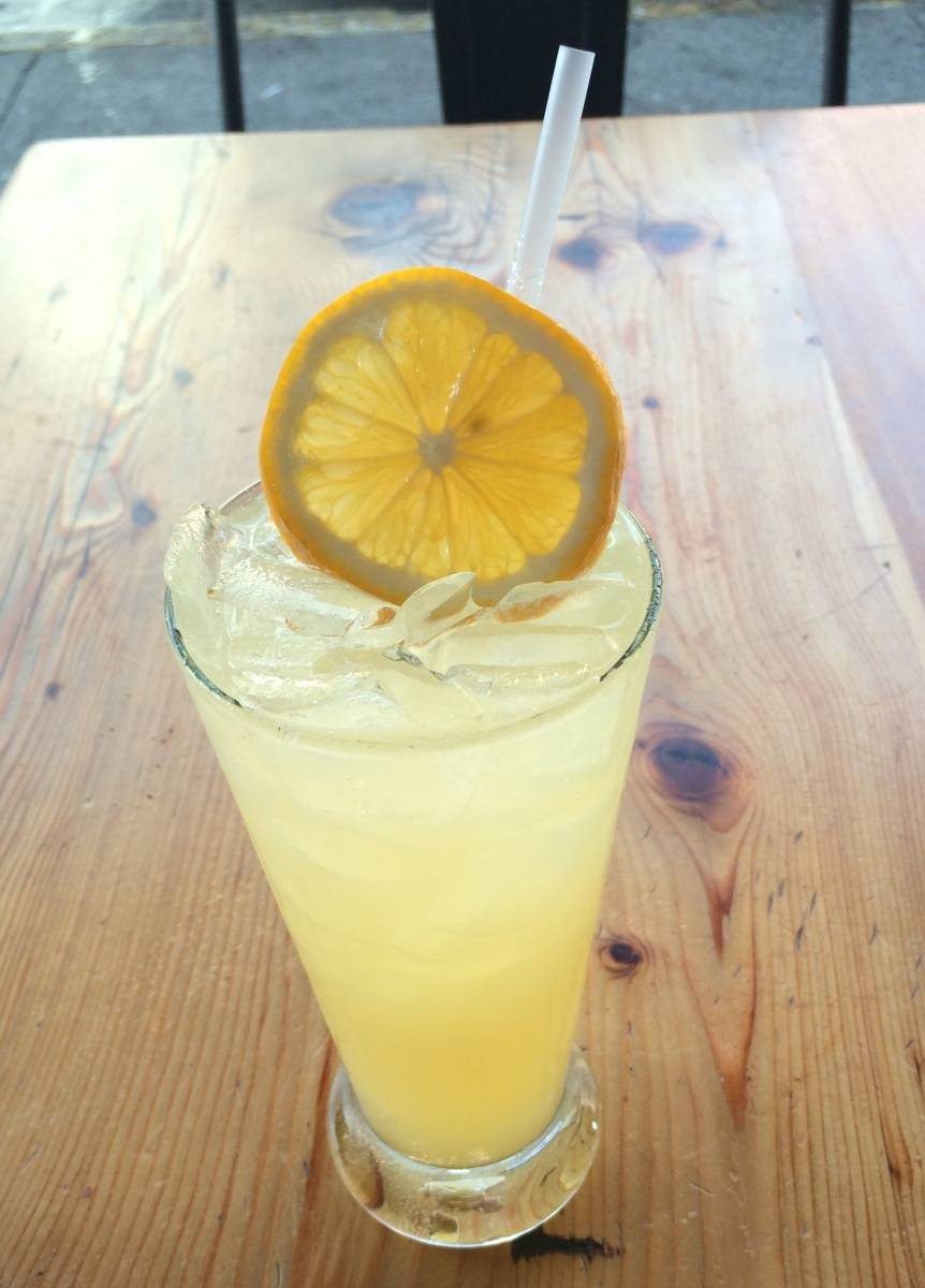 Roam's Meyer lemon soda.