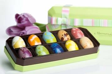 "Norman Love Confection's ""10-Piece Easter Chocolate Gift Box"""