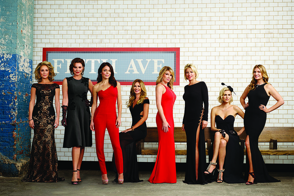 THE REAL HOUSEWIVES OF NEW YORK CITY -- Season:7 -- Pictured: (l-r) Sonja Morgan, Luann De Lesseps, Bethenny Frankel, Carole Radziwill, Ramona Singer, Dorinda Medley, Kristen Taekman, Heather Thomson, Photo by: Mathieu Young/Bravo