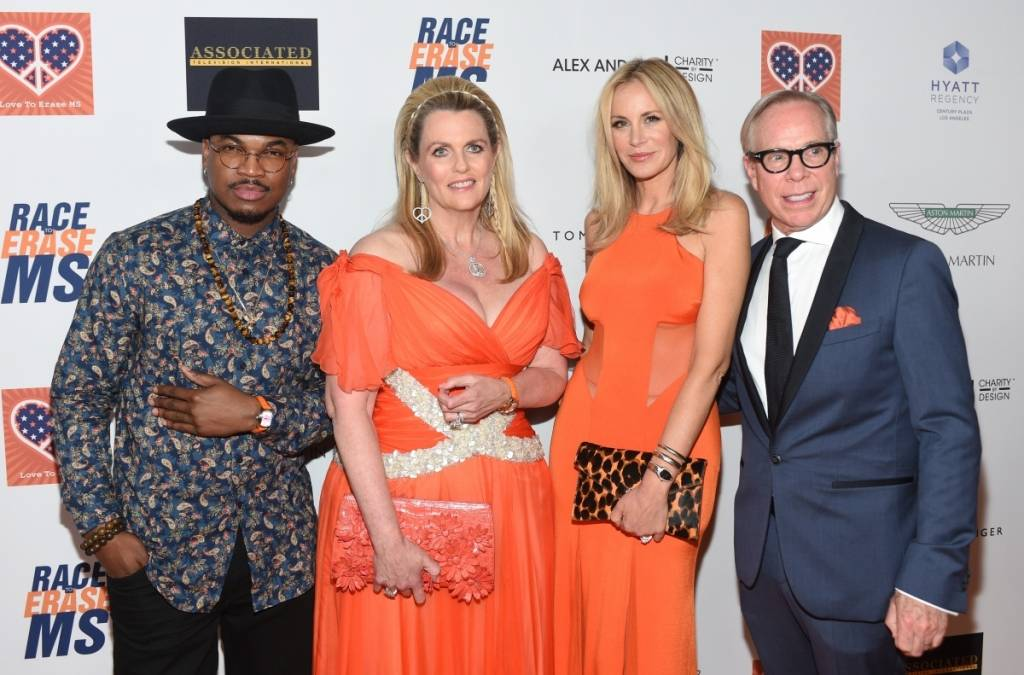 Ne-Yo, Davis, Dee and Tommy Hilfiger attend the 22nd annual Race to Erase MS