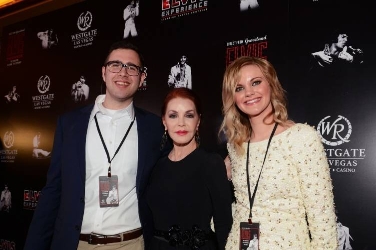 Priscilla Presley with Today Show couple Kaycee Satava and Cameron Baker. Courtesy Elvis Presley's Graceland1 (2)
