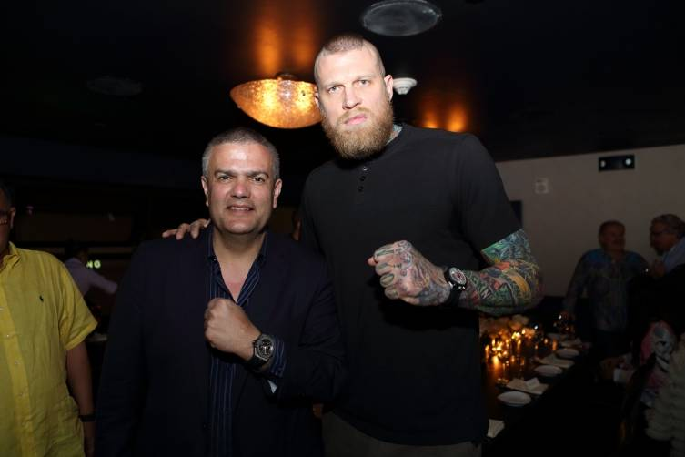 Ricardo Guadalupe with the Birdman
