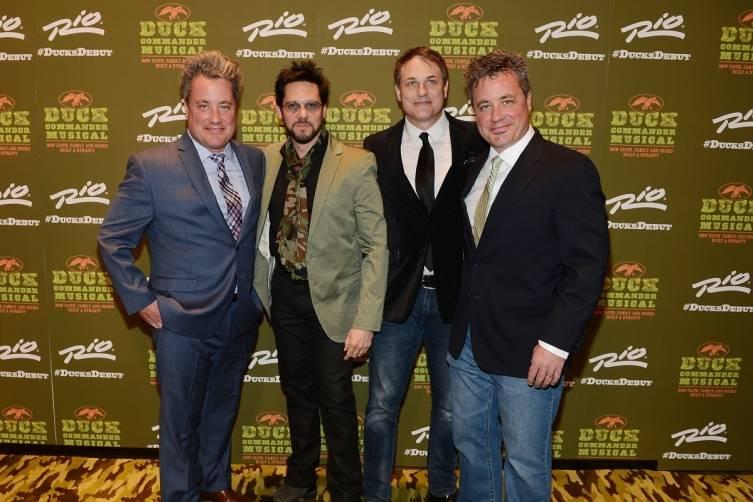 Robert Morris, Joe Shane, Asa Somers and Steven Morris at World Premiere of DUCK COMMANDER MUSICAL 4.15.15_Credit Denise Truscello