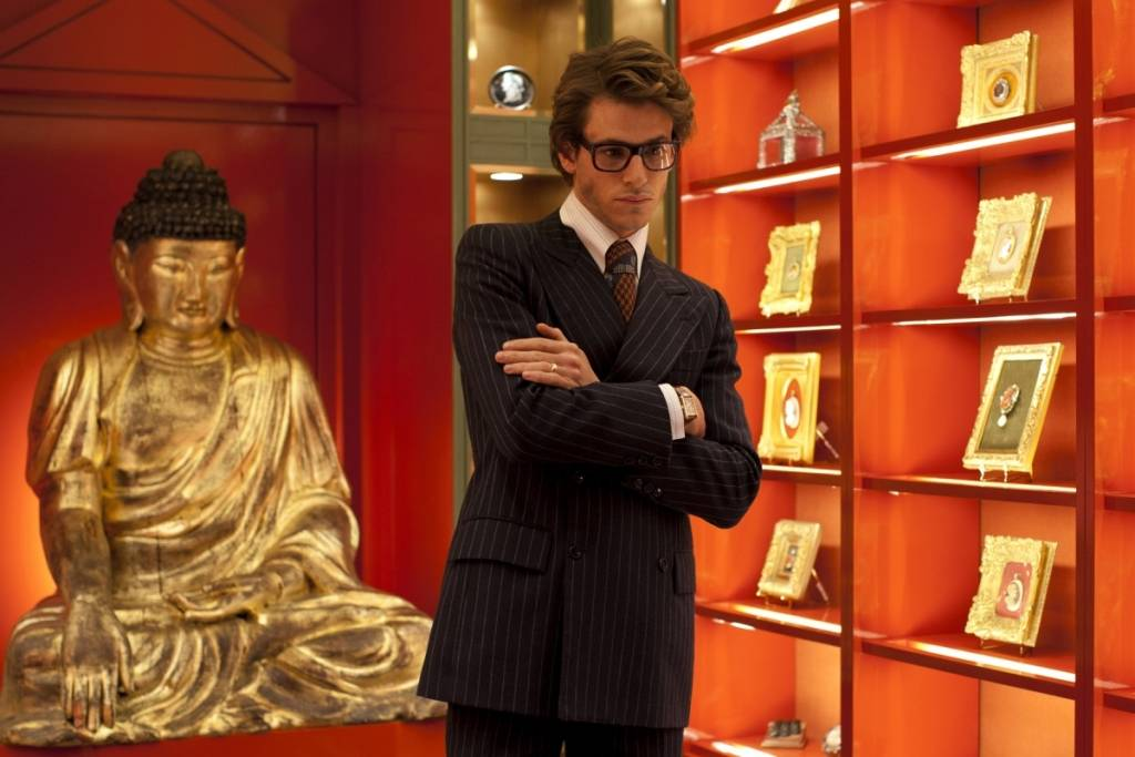 Gaspard Ulliel, in a scene from Bertrand Bonello's SAINT LAURENT
